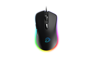 Dareu Gaming Office Mouse 6 Programmable Buttons, Ergonomic RGB Mouse with 16.8 Million Chroma 7 Backlit for PC, Laptop, and Notebook