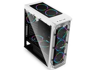 Segotep LUX Gaming Computer Case PC White - USB 3.0 Support ATX / Micro-ATX / ITX