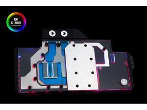EKWB EK-Quantum Vector Trio RTX 2080 GPU Water Block, D-RGB, Nickel/Plexi