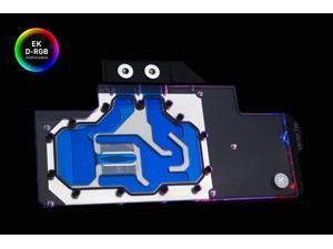 EKWB EK-Quantum Vector Trio RTX 2080 Ti GPU Water Block, D-RGB, Nickel/Plexi