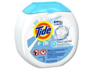 Free & Gentle Laundry Detergent, Pods, 72/Pack, 4 Packs/Carton 89892CT