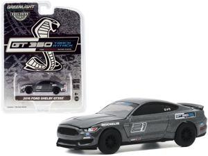 """2016 Ford Mustang Shelby GT350 #21 Magnetic Gray """"Ford Performance Racing School"""" GT350 Track Attack 1/64 Diecast Model Car by Greenlight"""
