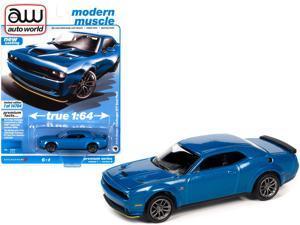 "2019 Dodge Challenger R/T Scat Pack B5 Blue Metallic ""Modern Muscle"" Ltd Ed 14704 pcs 1/64 Diecast Model Car by Autoworld"