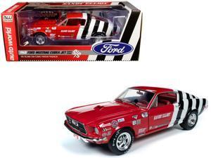 "1968 Ford Mustang Cobra Jet Super Stock ""Sandy Elliot Performance Centre"" 1/18 Diecast Model Car by Autoworld"