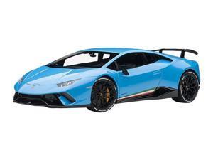 Lamborghini Huracan Performante Pearl Blue with Black Wheels 1/18 Model Car by Autoart