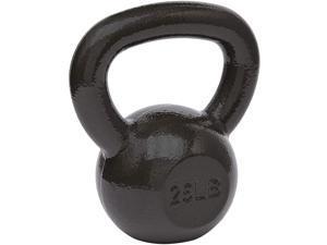 Basics Cast Iron Kettlebell - 25 Pounds, Black