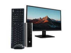 "HP EliteDesk 8300 Ultra Small Form PC Desktop Computer, Intel Quad Core i5, 8GB RAM, 256GB SSD, Windows 10, New 23.6"" FHD LED Monitor, New 16GB Flash Drive, Wireless Keyboard & Mouse, DVD, WiFi"