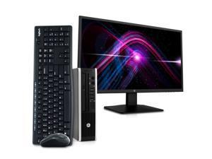 "HP EliteDesk 8300 Ultra Small Form Business PC Desktop Computer, Intel Quad Core i5, 16GB RAM, 1TB SSD, Windows 10 Pro, 23.6"" FHD LED Monitor, 16GB Flash Drive, Wireless Keyboard & Mouse, DVD, Wi-Fi"