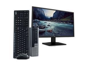"Dell OptiPlex 9020 Ultra Small Business PC Desktop Computer, Intel Quad Core i5, 16GB RAM, 1TB SSD, Windows 10 Pro, 23.6"" FHD LED Monitor, 16GB Flash Drive, Wireless Keyboard & Mouse, DVD, WiFi"