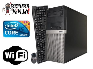 Dell Optiplex 980 Desktop Tower PC, Intel Quad Core i5 (3.20GHz) Processor, 8GB RAM, 2TB Hard Drive, Windows 10 Professional, DVD,  Keyboard, Mouse, WiFi