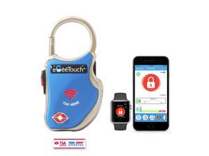 eGeeTouch Smart TSA Travel Lock - Secure & Track your Luggage, Backpack, Cabinet anywhere you go (Blue)