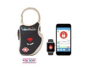 eGeeTouch Smart TSA Travel Lock - Secure & Track your Luggage, Backpack, Cabinet anywhere you go (Black))