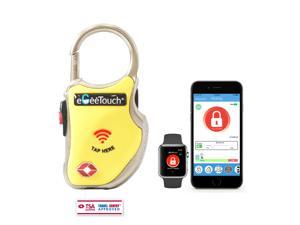 eGeeTouch Smart TSA Travel Lock - Secure & Track your Luggage, Backpack, Cabinet anywhere you go (Yellow)