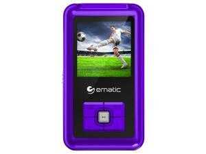 Ematic EM208VID 8 GB Purple Flash Portable Media Player EM208VIDPR