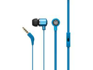 Wicked Audio Panic Noise Isolation Dynamic Crystal Clear Stereo Sound Earbuds with Microphone - BlueJay