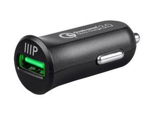 Monoprice USB Smart Car Charger With Qualcomm Quick Charge 3.0 Technology - Obsidian Series
