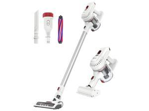 Dibea E19 Lightweight Cordless Vacuum Cleaner 12000Pa Powerful Suction 2 in 1 Bagless Rechargeable Vacuum Cleaner Hard Floor Carpets Pet Hair White(send from US)