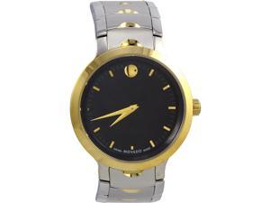 Movado Luno Sport Men's Watch Stainless Steel Black Dial 0607043