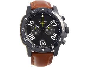 Nixon Ranger Chrono Leather A940712 Black Dial Men's Leather Band Watch