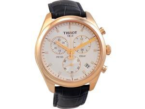 Tissot PR 100 Chronograph Gent Silver / Rose Gold Men's Watch T101.417.36.031.00