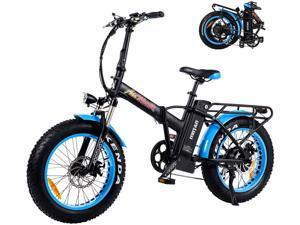 """Addmotor M-150 P7 Folding Electric Bike, Portable City 20"""" Foldable E-bike with Fat Tire Commuter Bike Electric Bicycle with 48V 16Ah Lithium Battery 750W Powerful Motor Suspension"""