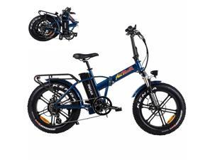 """Addmotor Motan 750W Electric Bike, Folding Electric Commuter Bicycle, 48V 16AH Battery 20"""" 4 Fat Tire Sport Snow Beach M-150 R7 E-Bike, LCD Display, 7 Speed Gears, Front Suspension Fork"""