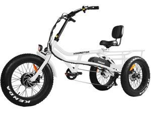 """Addmotor M-360 Electric Tricycle for Adults 750W 48V 16Ah Semi-Recumbent Electric Trikes with 20"""" Fat Tire 3 Wheels Power E-Bike E-tricycle with Rear Cargo Basket"""