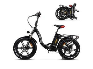 """20"""" Fat Tire Electric Bike for Adults, 750W Folding E-Bike Snow Beach Mountain Moped City Bicycle, 22MPH Addmotor Motan M-140 R7 Black Ebike with Removable 48V 16Ah Battery"""