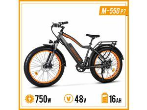 """Addmotor 26"""" Electric Bikes Fat Tire Electric Bicycles M-550 P7 750W Ebikes for Adults with Suspension Fork Mountain E-Bikes Mountain Electric Bicycle"""