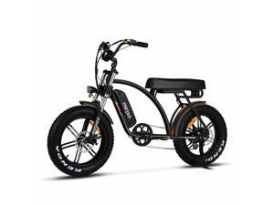 750W 48V 16AH Electric Bike for Adult, 20'' Fat Tire Electric Mountain Snow Beach City Bicycle, Cruiser Commuter Ebikes, Addmotor Motan M-60 R7 Mudguard Bicycle, Black