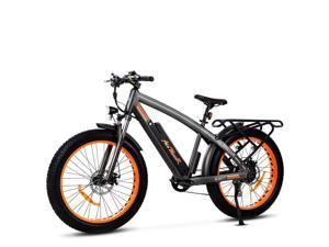 Addmotor MOTAN Electric Mountain Bicycles Fat Tires 26 Inch 750W Power Electric Bikes Removable 48V 16AH Lithium Battery M-560 P7 Ebikes for Adults+Fenders+Rear Rack (Orange)