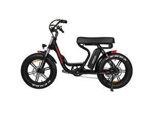 Addmotor MOTAN Electric Bike, 750W E-Bike, Step-Through 20'' Fat Tire Beach Cruiser Mountain M-66 R7 Adult Bikes with 48V 16Ah Lithium Battery, Fenders, Headlight, 7 Speeds Gear