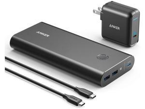 Anker PowerCore+ 26800 PD 45W with 60W PD Charger, Power Delivery Portable Charger Bundle for USB C Laptops, MacBook Air/Pro/Dell XPS/iPad Pro 2018, iPhone 11 Pro / 11 / XS Max / X / 8, and More