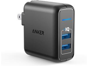 Anker Elite Dual Port 24W Wall Charger, PowerPort 2 with PowerIQ and Foldable Plug , USB Charger for iPhone 11/Xs/XS Max/XR/X/8/7/6/Plus, iPad Pro/Air 2/Mini 3/Mini 4, Samsung S4/S5, and More