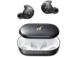 Anker Soundcore Spirit Dot 2 True Wireless Earbuds, Deep Bass, IPX7 Waterproof, Sweatproof, 16H Playtime, Fast Charge, Comfortable AirWings, Bluetooth 5, Mini Sports Earphones, Workout, Gym, Jogging