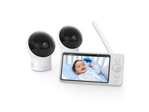 "eufy Security, Video Baby Monitor with Camera and Audio, 2-Cam Kit, 720p HD, Ideal for New Moms, 5"" Display, 110° Wide-Angle Lens, Night Vision"