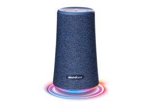 Soundcore Flare+ Portable 360° Bluetooth Speaker by Anker, Huge 360° Sound, IPX7 Waterproof, Bigger Bass, Ambient LED Light, 20-Hour Playtime, 4 Drivers with 2 Passive Radiators (Blue)