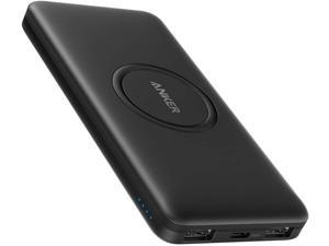 Anker Wireless Power Bank, PowerCore 10,000mAh Portable Charger with USB-C (Input Only), External Battery Pack Compatible with iPhone 11, Samsung, iPad 2020 Pro, AirPods, and More.
