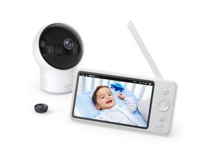 """eufy Security, Video Baby Monitor with Camera and Audio, 720p HD Resolution, Night Vision, 5"""" Display, 110° Wide-Angle Lens Included, Lullaby Player, Ideal for New Moms"""