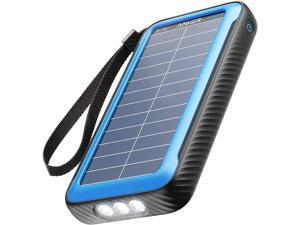 Anker PowerCore Solar 20000, 18W USB-C Power Bank 20,000 mAh with Dual Ports, Flashlight, IP65 Splash Proof and Dustproof for Outdoor Activities, Compatible with Smartphones and Other Devices