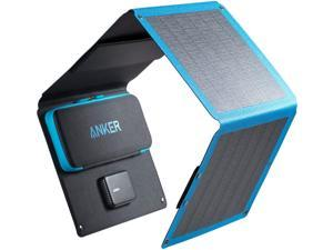 Solar Charger, Anker 24W 3-Port USB Portable Solar Charger with Foldable CIGS Panel for Camping, PowerPort Solar for iPhone 12/SE/11/XS Max/XR/X/8, iPad, Samsung Galaxy S20/S10/S9/S8, and More