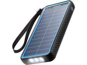 Anker Solar Power Bank, PowerCore Solar 10000 Dual-Port Solar Charger with Flashlight, IP64 Splashproof, Dustproof for Outdoor Activities, Compatible with Smartphones