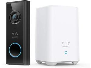 eufy Security, Wireless Video Doorbell (Battery-Powered) with 2K HD, No Monthly Fee, On-Device AI for Human Detection, 2-Way Audio, Simple Self-Installation