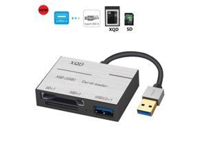 LUOM XQD Card Reader USB3.0,  USB3.0 Card Adapter with USB3.0 Read 2 Cards Simultaneously XQD/SD Memory XQD Card Reader for Sony M/G Series, Lexar USB Mark Card 2933x/1400x