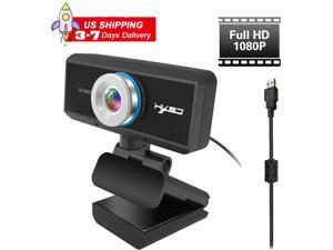 US inventory Webcam HD 1080p Web Camera, USB PC Computer Webcam with Mic, Laptop Desktop Full HD Camera Video Webcam Widescreen, Pro Streaming Webcam for Recording, Calling, Conferencing, Gaming