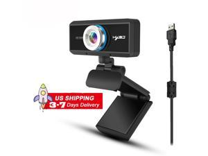 S90 PC Webcam,  1MP 720P Full HD Webcam USB Desktop & Laptop Webcam Live Streaming Webcam with Microphone Widescreen HD Video Webcam 90-Degree Extended View for Video Calling