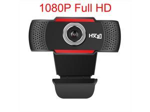 S80 PC Webcam,  1080P Full HD Webcam USB Desktop & Laptop Webcam Live Streaming Webcam with Microphone Widescreen HD Video Webcam 90-Degree Extended View for Video Calling