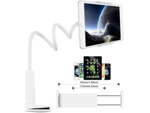 Gooseneck Tablet Holder, 30inch Flexible Arm Clip Mount Stand for 9.5~10.6 Tablet, Compatible with iPad Pro 10.5 9.7 iPad 2019 2018 2017 Air and Other Brands Tablet ,White