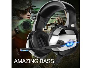 ONIKUMA K5 Gaming Headset for Xbox One Playstation 2 PS4 PS5 PC - 3.5mm Surround Sound, Noise Reduction Game Headphone with Microphone and Volume Control for Laptop, Tablet,Switch Games