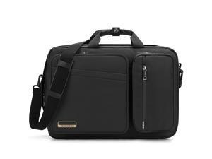 LUOM 17 Inch Laptop Backpack Convertible Backpack Travel Computer Bag Hiking Knapsack Rucksack College Shoulder Back Pack Fits up to 17 Inches Laptop Notebook for Men/Women, Black